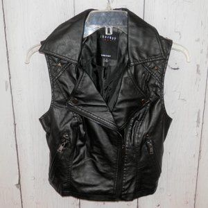 Therapy Womens Small Black Stud Rivet Moto Jacket